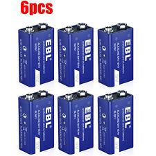 6x 9 Volt (9V) Alkaline Batteries (Model 6Lr61 ) Single Use Battery 6packs
