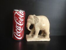 Antique Burmese 19th Century Mandalay style elephant marble sculpture