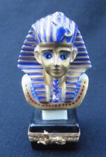 Limoges Hand Painted King Tut Porcelain Trinket Box Limited Edition 315/1000 Exc