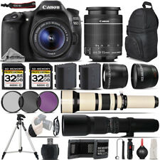 Canon EOS 90D Digital SLR with Wi-Fi NFC Camera + 18-55 STM + 650-1300mm + 500mm