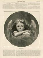 1873 - Antique Print FINE ART Cupid Photographed Life Child Wings   (110)
