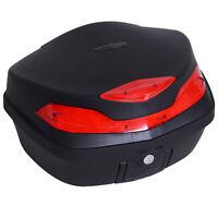 Motorcycle Tail box 48L Top Case Motorbike Trunk Helmet Carrier Luggage w/ Keys