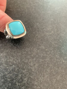 Authentic David Yurman Large Turquoise And Silver Ring