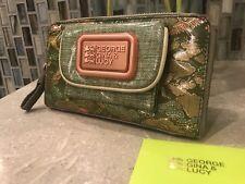 "George Gina Lucy Wallet ""Karma Free"" RARE Retails $149 Green EUC"