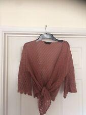 Ladies Pink Crochet Cardigan Size 12 Dorothy Perkins