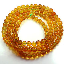 30.46g 100% Natural Mexican Golden Amber Bead Bracelet Necklace CSFb437