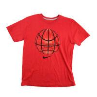 Nike Mens TShirt Orange Graphic Tee Short Sleeve Cotton Regular Fit Size M