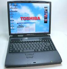 """Windows 98 Win 95 Vintage Laptop Toshiba Satellite 4080 XCDT 14.1"""" Rarität *TOP*"""