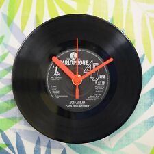 "Paul McCartney 'Spies Like Us' Retro Chic 7"" Vinyl Record Wall Clock"
