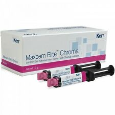 3 Packs of Kerr Maxcem Elite Chroma Self-Etch, Self-Adhesive Resin Cement