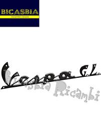 """2903 - TARGHETTA """" VESPA GL """" NERA CON FORI 165 MM SCUDO ANTERIORE VESPA 150 GL"""