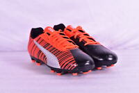 Youth Boy's Puma One 5.4 FG Soccer Cleats, Black / Energy Red