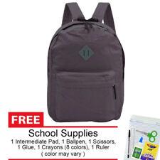 Everyday Deal 169 Lightweight Waterproof Backpack Purple Grey + School Supplies