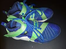 Youth Nike Lebron Soldier Ix 9 - 776471-441 - Blue /Green Size 3.5Y