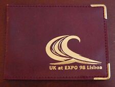 1998 Lisboa Expo 98 * Burgundy UK Picture / Card holder * VERY GOOD CONDITION