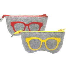 LN_ FM_ PORTABLE FELT CLOTH ZIPPER SUNGLASSES CASE BAG GLASSES POUCH COSMETIC