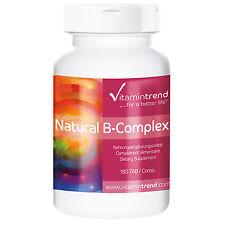 Natürlicher Vitamin B-Komplex (16.31€/100g) 180 Tabletten - Vitamintrend