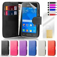 32nd Book Wallet PU Leather Case Cover for Samsung Galaxy Ace 4 - Red