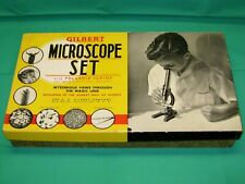 1930's Vintage Gilbert Microscope Set