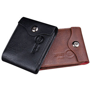 Mens Wallets RFID Blocking 7 Credit Cards Coins Zip Pocket 1 ID Window Leather