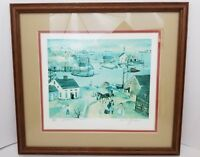 Will Moses Limited Edition Print Fisherman's Cove 317/500 Signed Lithograph