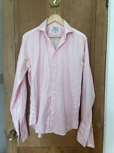 "TM Lewin Luxury Slim Fit Finest Dress Shirt 16"" 100% Cotton"