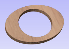 """Pair of 6x9"""" to 6.5"""" Adapter 3/4"""" Thick Mdf Speaker Ring No Inset Quality Usa"""