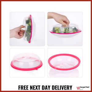 x2 Small Food Bowl Kids Cover Vacuum Seal Microwave Pet Food Dome Guard