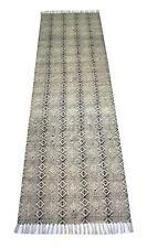 Handmade Cotton Kilim Runner Block Printed Traditional 2'6''x 8' Feet