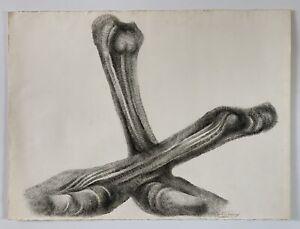 Roberto Estopinan (Estopiñan) Original Abstract Ink Drawing '81, Miami Cuban Art