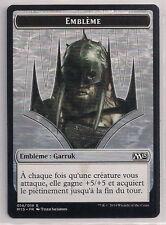 MTG Magic M15 - Garruk, Apex Predator Emblem/Emblème Garruk, French/VF