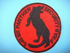 VIETNAM WAR PATCH, US 315th SECURITY POLICE SQUADRON PANTHER PRAB