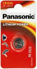 "NEW PANASONIC CR1616 3V COIN LITHIUM BATTS SINGLE CARDED BATTERY ""PANACR1616"""