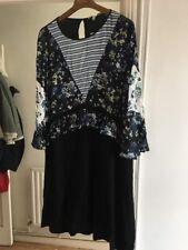 BNWT Next Size 18 Black Floral Dress RRP £46