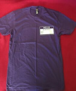 Twitch TV streamer T-shirt with badge unisex M purple