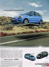 Publicité advertising 2007 Visiospace Citroen C4 Picasso