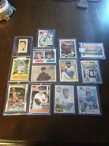 Baseball card lot  1966 Mickey Mantle  1988 Michael Jordan : Payton, Ryan, Aaron