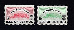 Europe Cept 1962 Isle Of Jethou 2 Valeurs (MNH)