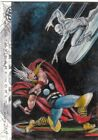 2013 Thor Dark World Marvel Charles Hall Oil Painted Sketch Card Silver Surfer!
