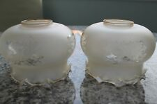 PAIR OF     ANTIQUE GLASS  LAMP SHADES