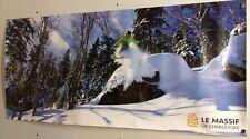 Original Ski Poster Le Massif De Charlevoix Snowboard Canada