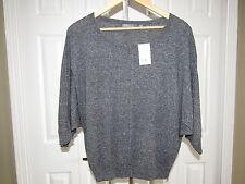 NEW Vince Wool Nylon Silk Gray Dolman Sleeve Sweater Top S