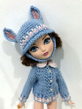 Ever after Monster High Doll adorable handmade knit sweater set clothes hat