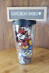 Tervis Disney - Classic Characters Tumbler with Wrap and Black 24 oz, Clear