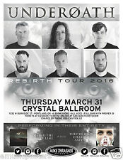 "Underoath ""Rebirth Tour 2016"" Portland Concert Poster - Christian Metal/Hardcore"