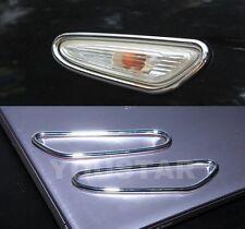 AU STOCK 2X CHROME Wing Indicator Side Surrounds for BMW E90 E60 E82 E88 E46