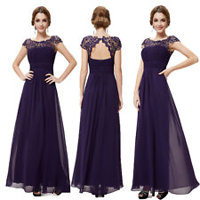 Ever-Pretty Elegant Bridesmaids Wedding Long Dress 09993 Size 4 Dark Purple 10