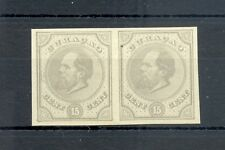 DUTCH WEST INDIES-CURACAO-1872 -15 Ct # 6-PAIR --PROOF (*) AS ISSUED VF @2