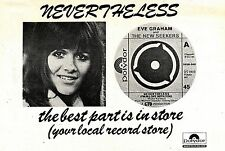 (Sds)24/3/1973Pg29 Eve Graham & The New Seekers, Nevertheless Advert 7x10