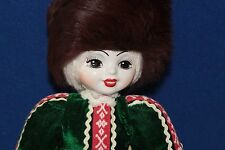 "RUSSIAN FOLK ART COSTUME-HAND PAINTED PORCELAIN DOLL-19"" TALL"